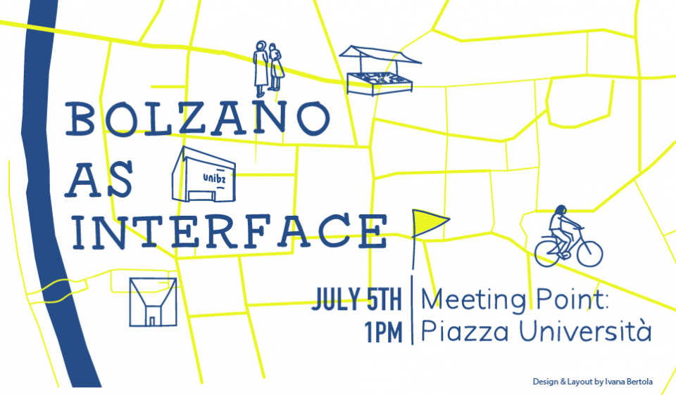 Invitation to Guided Tour »Bolzano as Interface«