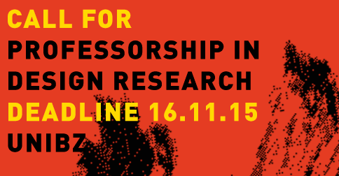 Call for Professorship in Design Research | Deadline: 16.11.