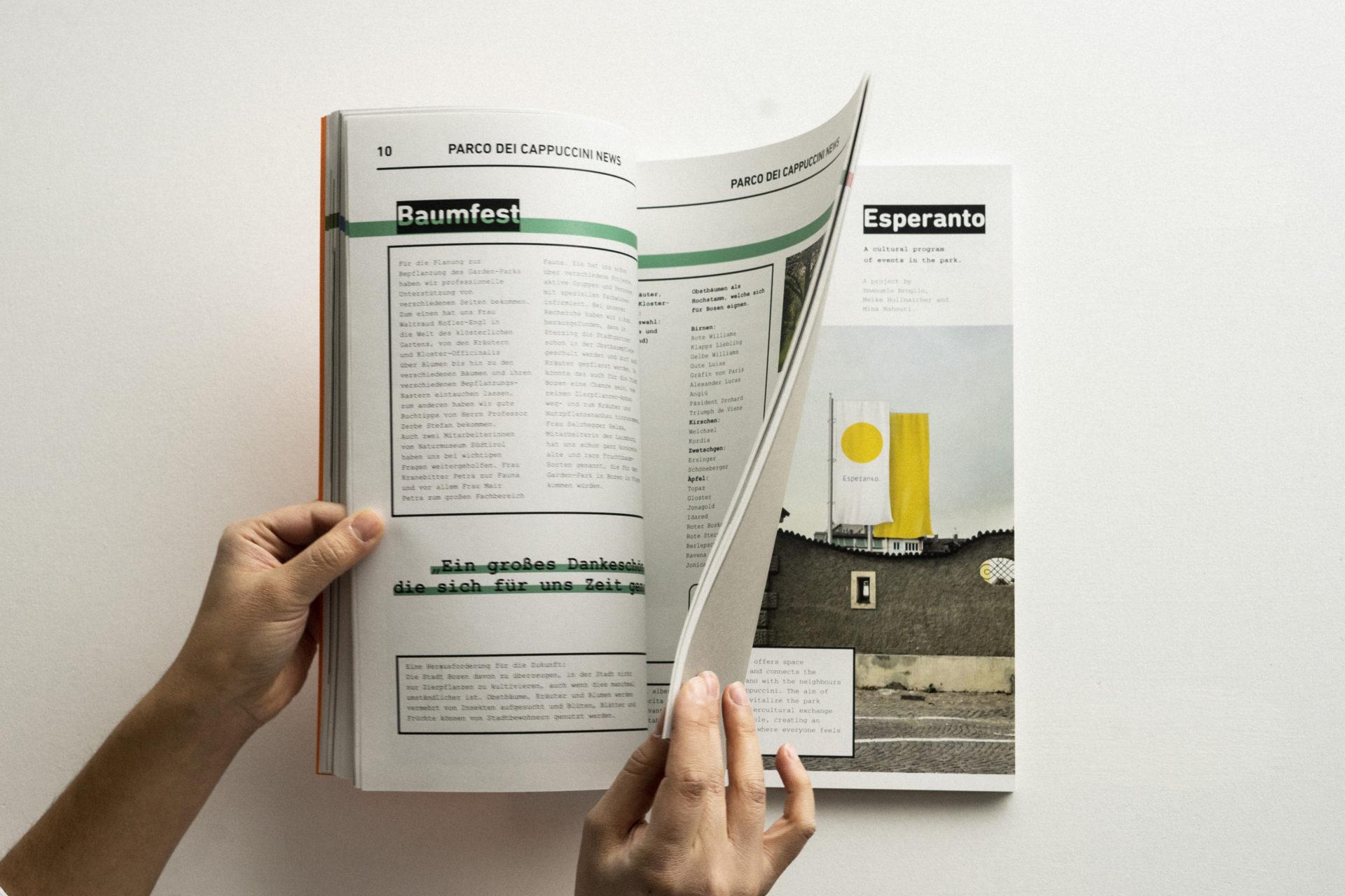 Es lebe der Park / Vivere il Parco Dokumenation Grüne Oase und Esperanto