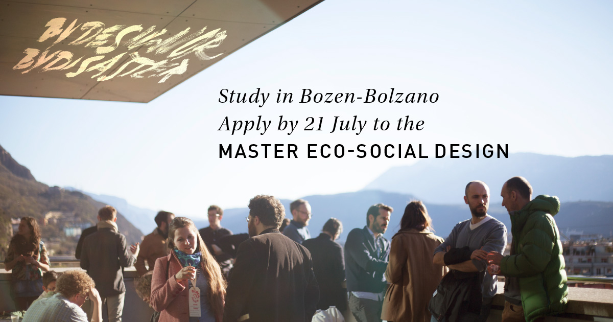 Apply to MA Eco-Social Design by 21 July 2016