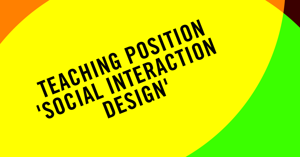 Teaching Position Social Interaction Design MAster in Eco-Social Design