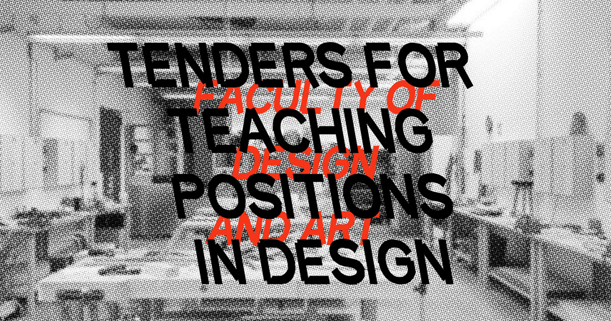 Design Lead in studio course Object / Space / Service
