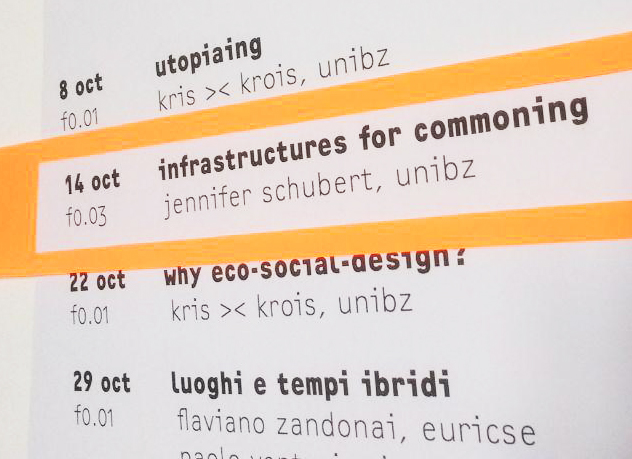 »Infrastructures for Commoning« with Jennifer Schubert