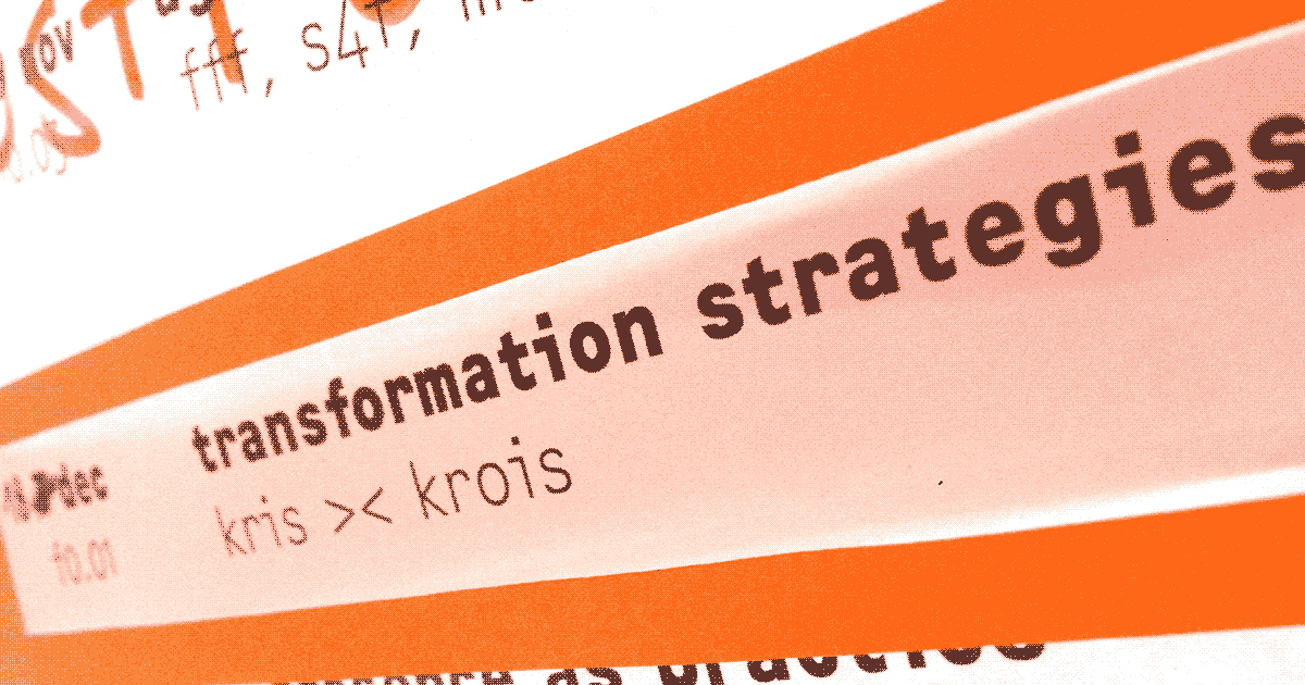 »Strategies for social-ecological transformation« with Kris >